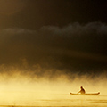 indonésie: Morning mist and fisherman... love this.